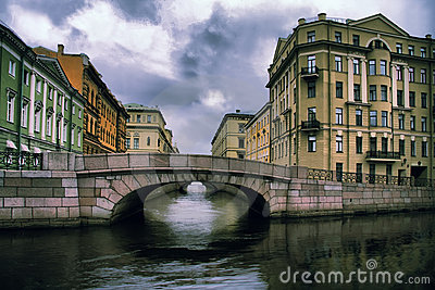 Russia, Saint-Petersburg, Winter Channel