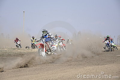 Russia, Samara motocross start Editorial Stock Photo