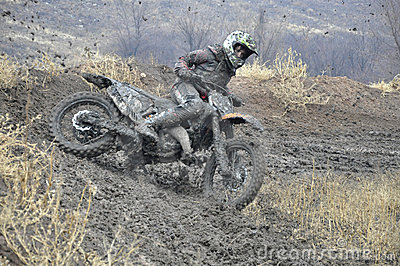 Russia, Samara motocross unidentified rider crash Editorial Photography
