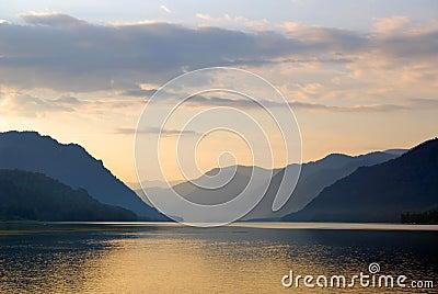 Russia. Siberia. Altai. Mirror of Teletskoye lake