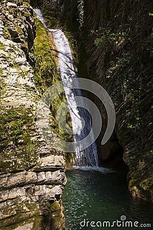Free Russia. Sochi. Mountain River And Waterfall Stock Photos - 116622523