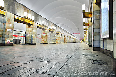 Russia, St. Petersburg, interior metro station Editorial Photography