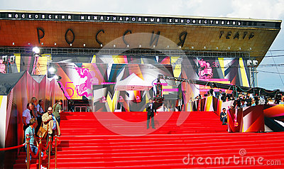 Russia Theater. Moscow Film Festival Editorial Photo