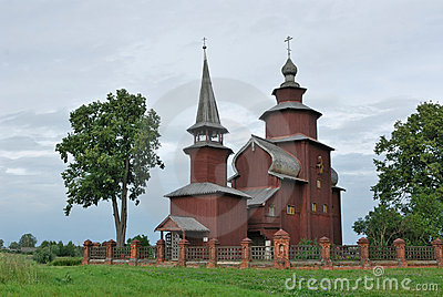 Russia. Town of Rostov the Great. Wooden Church