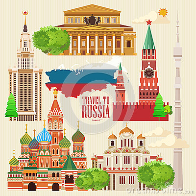 Free Russia Vector Banner. Russian Poster. Travel To Russia Royalty Free Stock Image - 70123286