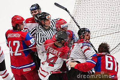 Russia vs. Canada. 2010 World Championship Editorial Stock Image