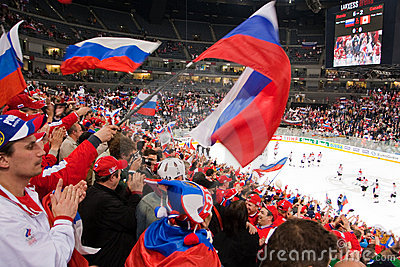 Russia vs. Canada. 2010 World Championship Editorial Photo