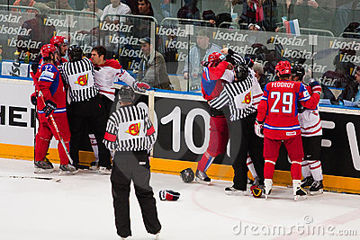 Russia vs. Canada. 2010 World Championship Editorial Stock Photo