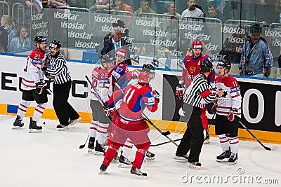 Russia vs. Canada. 2010 World Championship Editorial Photo