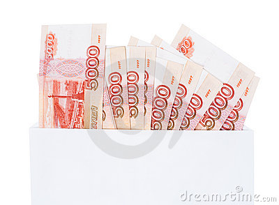 Russian 5000 rouble bills