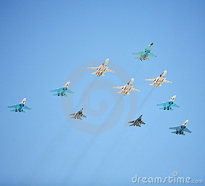 Russian Air Force fighters