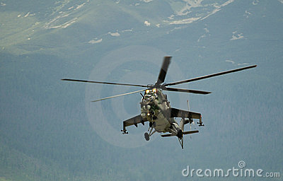 Russian Air Force Mi-24 Editorial Stock Image