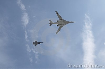 Russian air force, Tupolev Tu-160 and MiG-31