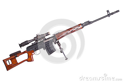 Russian army Dragunov sniper rifle