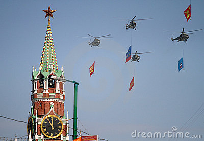 Russian army helicopters Editorial Photo
