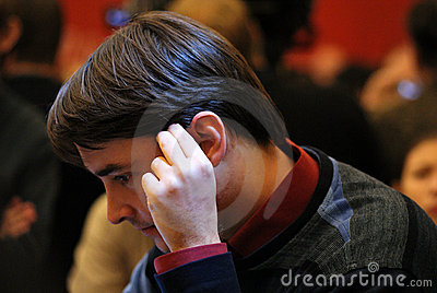 Russian chess Grandmaster, Alexander Morozevich Editorial Stock Photo