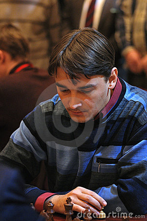 Russian chess Grandmaster, Alexander Morozevich Editorial Stock Image