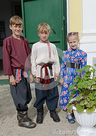 Russian children Editorial Stock Photo
