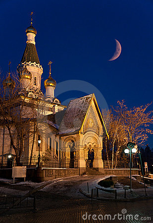 Russian Church - landmark of Sofia, Bulgaria