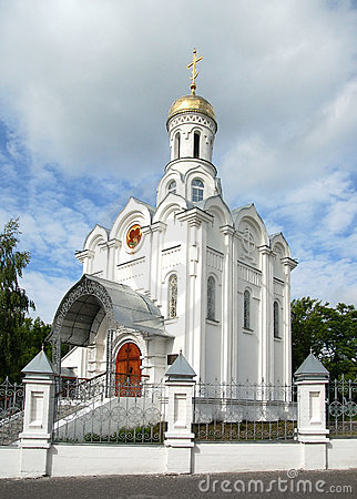 Russian church with gold cupola