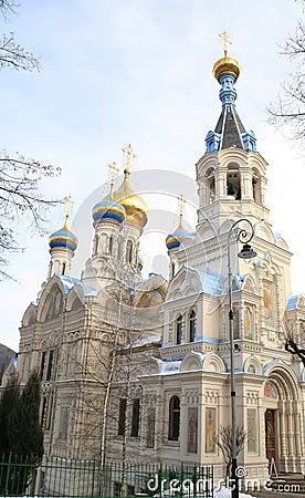 Russian church. Karlovy Vary