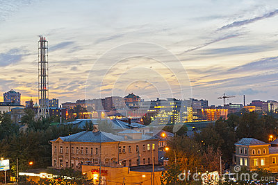 Russian city night Editorial Stock Image