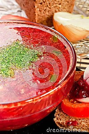 Russian cuisine soup
