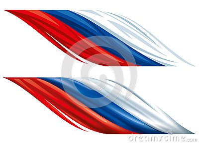 Russian decorative flags Vector Illustration