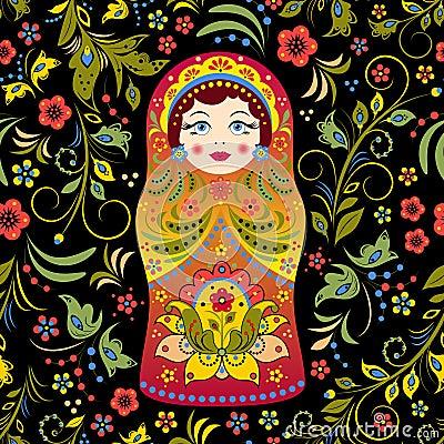 Russian doll Vector Illustration
