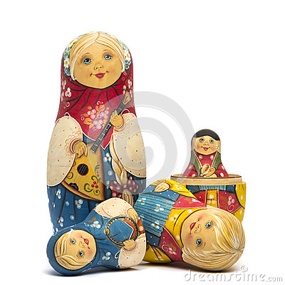 Free Russian Dolls Matte Isolated Stock Images - 80677494