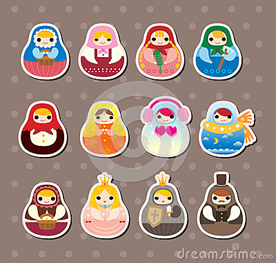 Russian dolls stickers