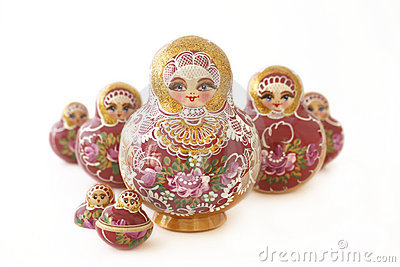 Russian Dolls in a v-shape