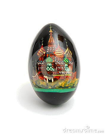 Russian Easter egg isolated