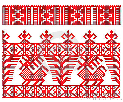 Russian Embroidery Deer Stock Photo - Image: 12693400