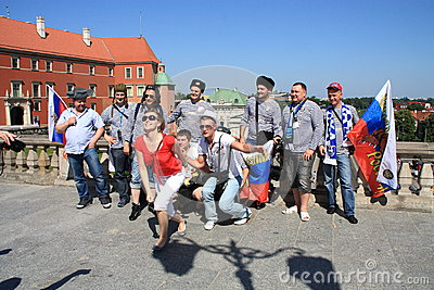 Russian fans Editorial Stock Image