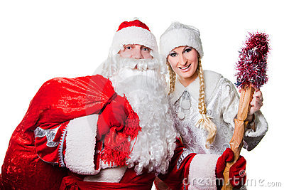 Russian father Frost and Snow Maiden