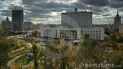 Russian Federation Government Headquarters. Moscow