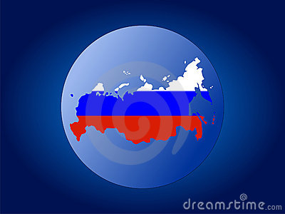 Russian Federation map flag sphere