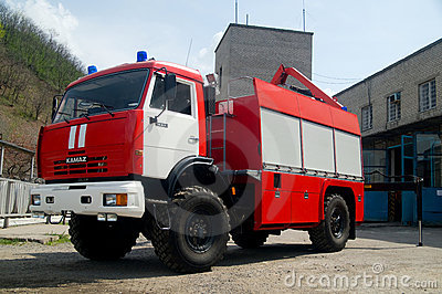 Russian firetruck Editorial Stock Photo