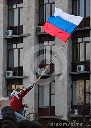 Russian flag Editorial Stock Image