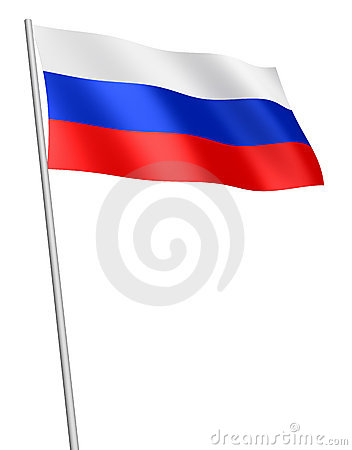 Russian flag / isolated