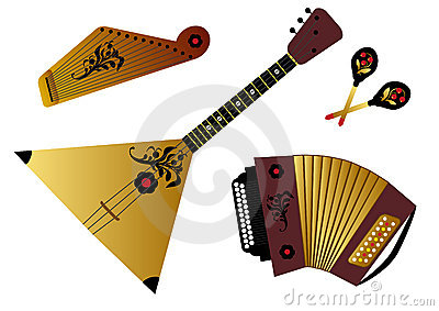 Russian folk music instruments