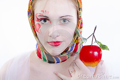 Russian girl in a headscarf