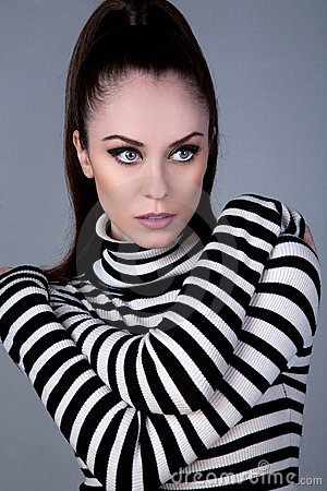 Russian girl in turtleneck