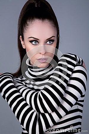 Russian girl in turtleneck