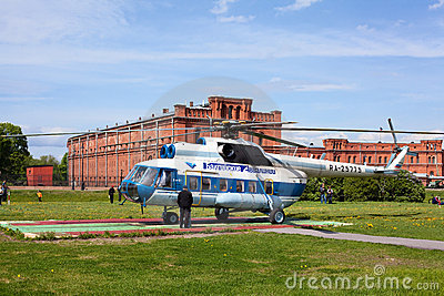 Russian helicopter in Saint-Petersburg, Russia Editorial Image