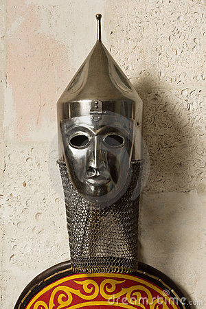 Russian helmet with semi-visor and
