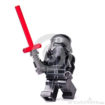 Free RUSSIAN, JANUARY 15, 2019. LEGO STAR WARS. Kylo Ren Mini-figures Of Lego Star Wars Saga Stock Images - 136824174