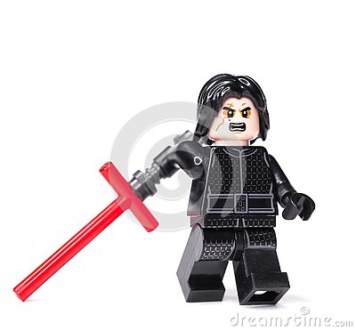 Free RUSSIAN, JANUARY 15, 2019 LEGO STAR WARS. Kylo Ren Mini-figures Of Lego Star Wars Saga Stock Image - 136824221