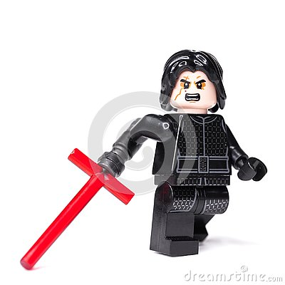 Free RUSSIAN, JANUARY 15, 2019. LEGO STAR WARS. Kylo Ren Mini-figures Of Lego Star Wars Saga Stock Images - 136824224